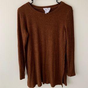 Saide & Love | Burnt Orange Sweater high slits | M